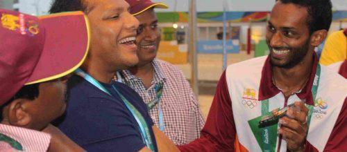 Sports Minister Meets Sri Lankan Contingent