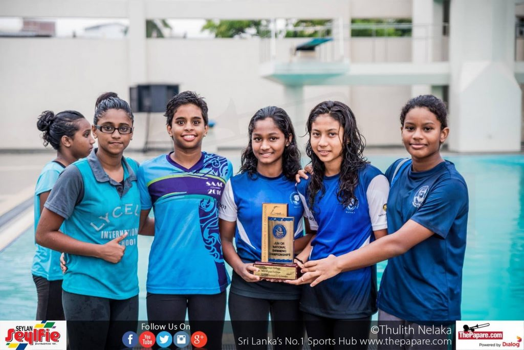 First national title for the swimmers of Lyceum Wattala in swimming